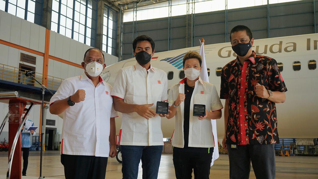 Garuda Indonesia bersama Komite Olahraga Nasional Indonesia (KONI) Pusat menjalin kerja sama strategis dalam mendukung pengembangan prestasi olahraga nasional.