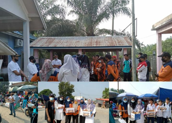 Desa Pematang Rahim, Kecamatan Mendahara Ulu, Kabupaten Tanjung Jabung Timur galang dana untuk korban kebakaran di Desa Mendahara Tengah. Rabu 09 Juni 2021. SELOKO.ID/ EKO WIJAYA.